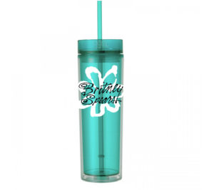 Britney Spears - 16oz - Skinny Tumbler With Straw and Lid - Hot & Cold - Baby One More Time - God Give Me Truth