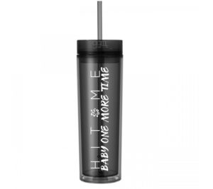 Britney Spears - 16oz - Skinny Tumbler With Straw and Lid - Hot & Cold -  Hit Me Baby One More Time - God Give Me Truth
