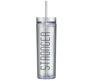 Britney Spears - 16oz - Skinny Tumbler With Straw and Lid - Hot & Cold - STRONGER - God Give Me Truth
