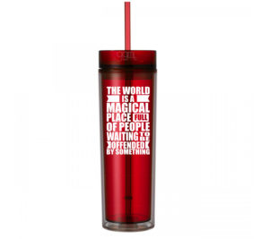 Offending People - 16oz - Skinny Tumbler With Straw and Lid - Hot & Cold - God Give Me Truth