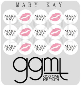 "Planner Stickers - MARY KAY - 15 Stickers @ 1/2"" each - MAKEUP - God Give Me Truth"
