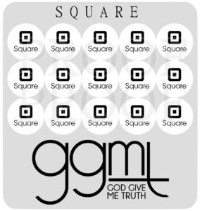 "Planner Stickers - SQUARE - 15 Stickers @ 1/2"" each - Square Reader - God Give Me Truth"