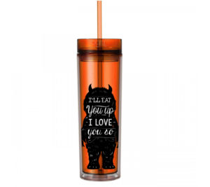 Where The Wild Things Are - 16oz - Skinny Tumbler With Straw and Lid - Hot & Cold - LOVE - God Give Me Truth