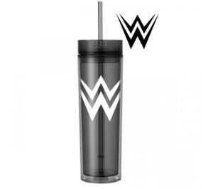 WWE - World Wrestling Entertainment - 16oz - Skinny Tumbler With Straw and Lid- Hot & Cold - WWF - God Give Me Truth